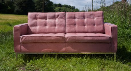 A Concrete Sofa That Looks Like it's Upholstered