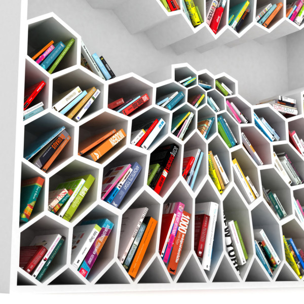 honeycomb-bookshelf