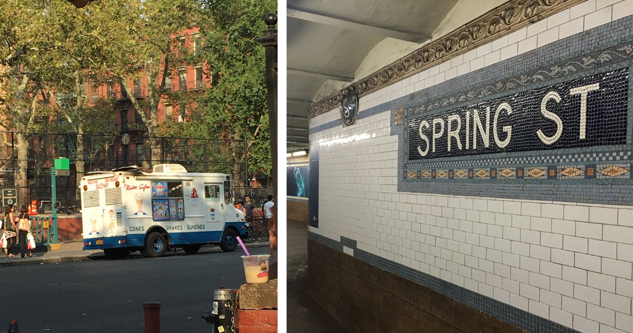Grand Street at Chrystie Street, and Spring Street Subway Station