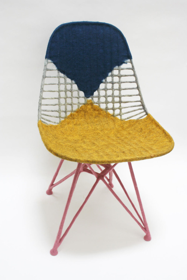 Chair for Ray, 2014, Felted raw wool on Eames Wire Chair, Collection of Los Angeles County Museum of Art (LACMA)