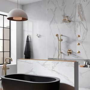 Technology + Bauhaus = The Ultimate Modern Bathroom