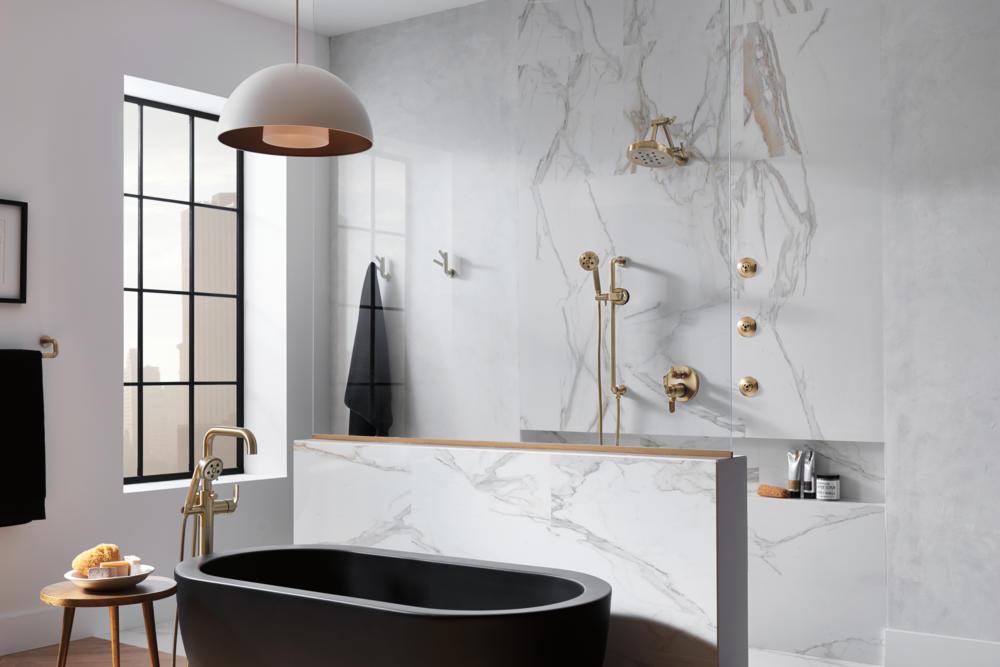 Technology + Bauhaus = The Ultimate Modern Bathroom