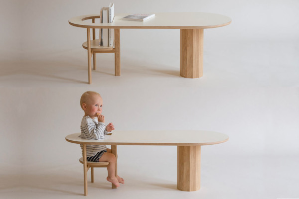 Coffee table that holds your books or your baby design milk - Chaise et table bebe ...