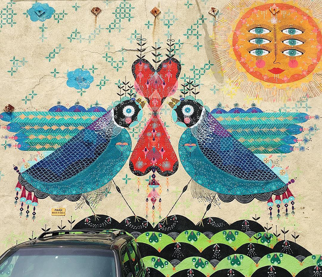 Mural by Bunny Reiss, Little Tokyo \\\ Photo by Gregory Han