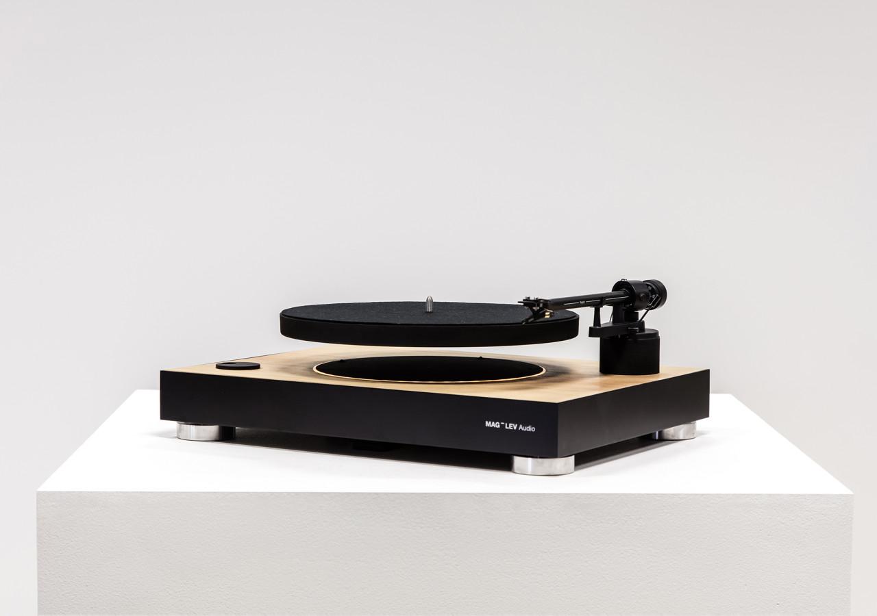 mag lev audio levitating turntable design milk. Black Bedroom Furniture Sets. Home Design Ideas