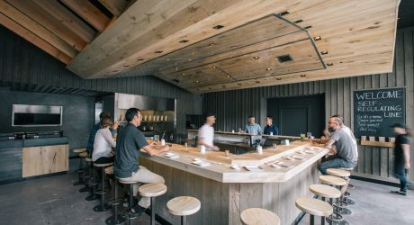 Marmol Radziner Rolls With a Warm Wood Interior Inside KazuNori