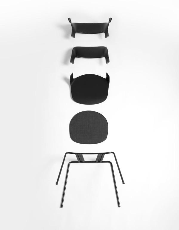Pair Chair Layer Fritz Hansen 2