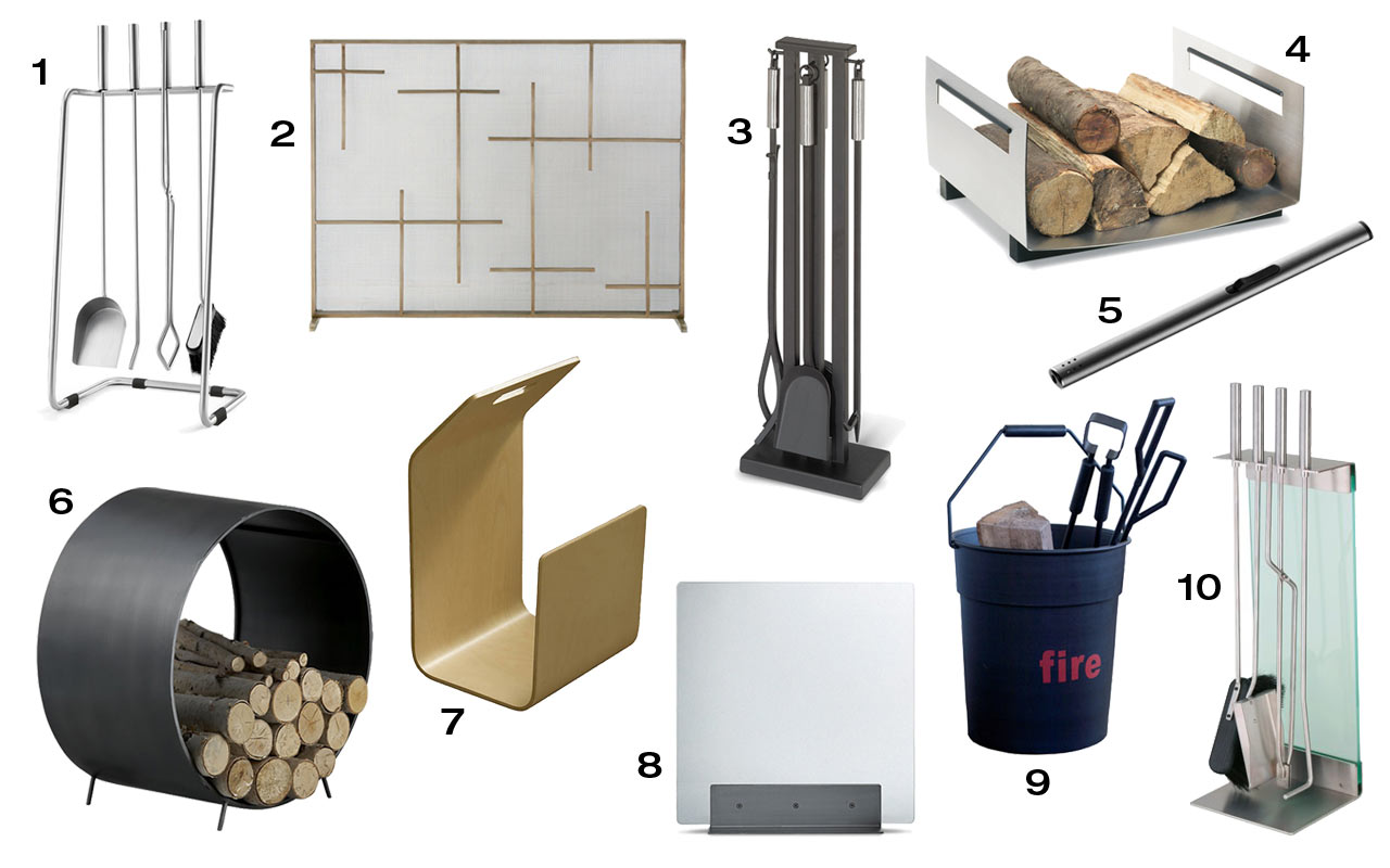 10 modern fireplace tools u0026 accessories design milk