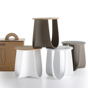 Sag: A Stool + Table with Folded Legs