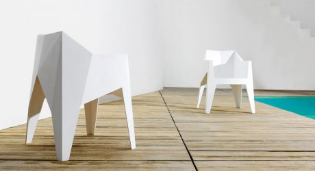 A Faceted Stacking Chair by Karim Rashid