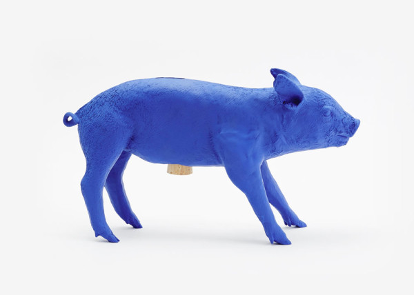 Bank in the form of a pig for Areaware