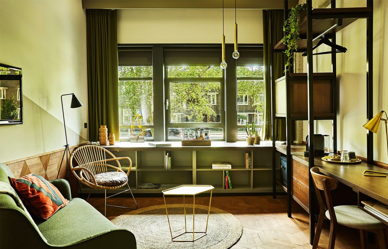 Hotel v fizeaustraat in amsterdam design milk for How do you get into interior design