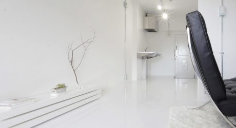 Leaden Wall in White Space by Jun Murata