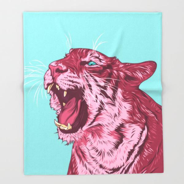 magenta-tiger-throw-blanket