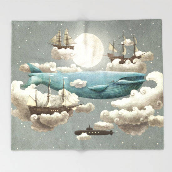 ocean-meets-sky-throw-blanket