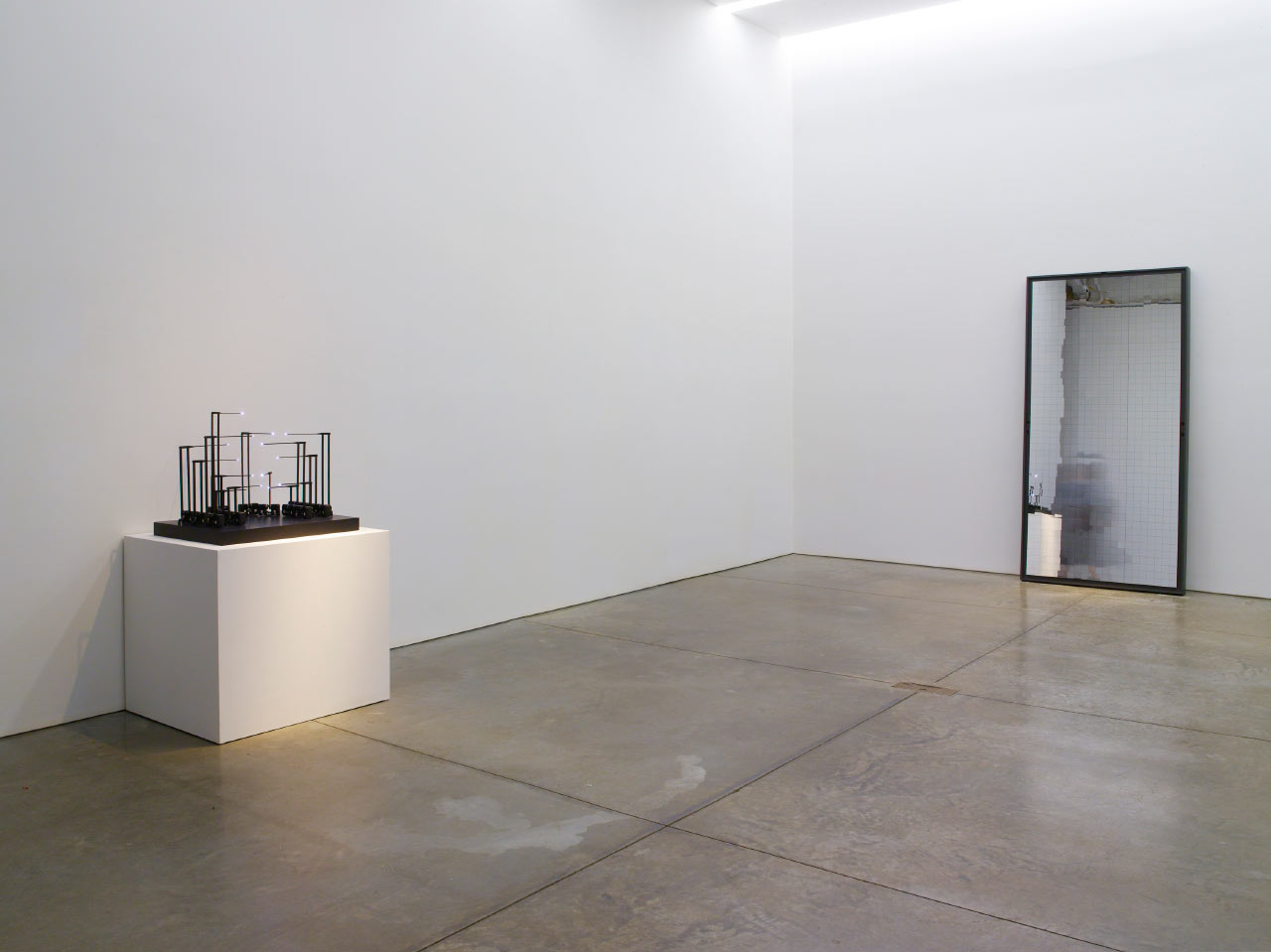 "Installation view with ""Study for Fifteen Points /I"", and ""Blur Mirror"""