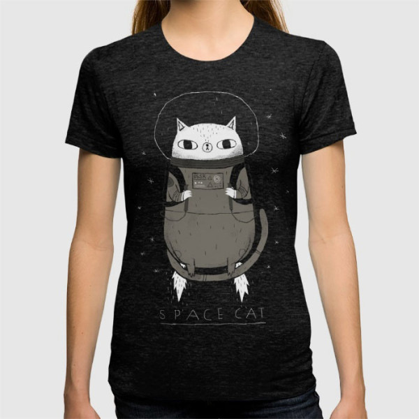 space-cat-tshirt