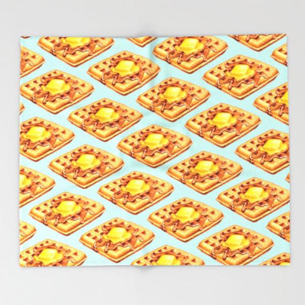 waffle-pattern-throw-blanket