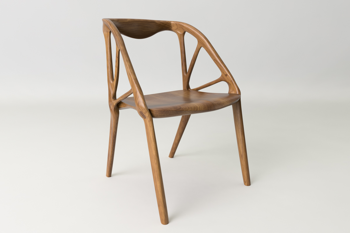 A Chair Created Through Generative Design