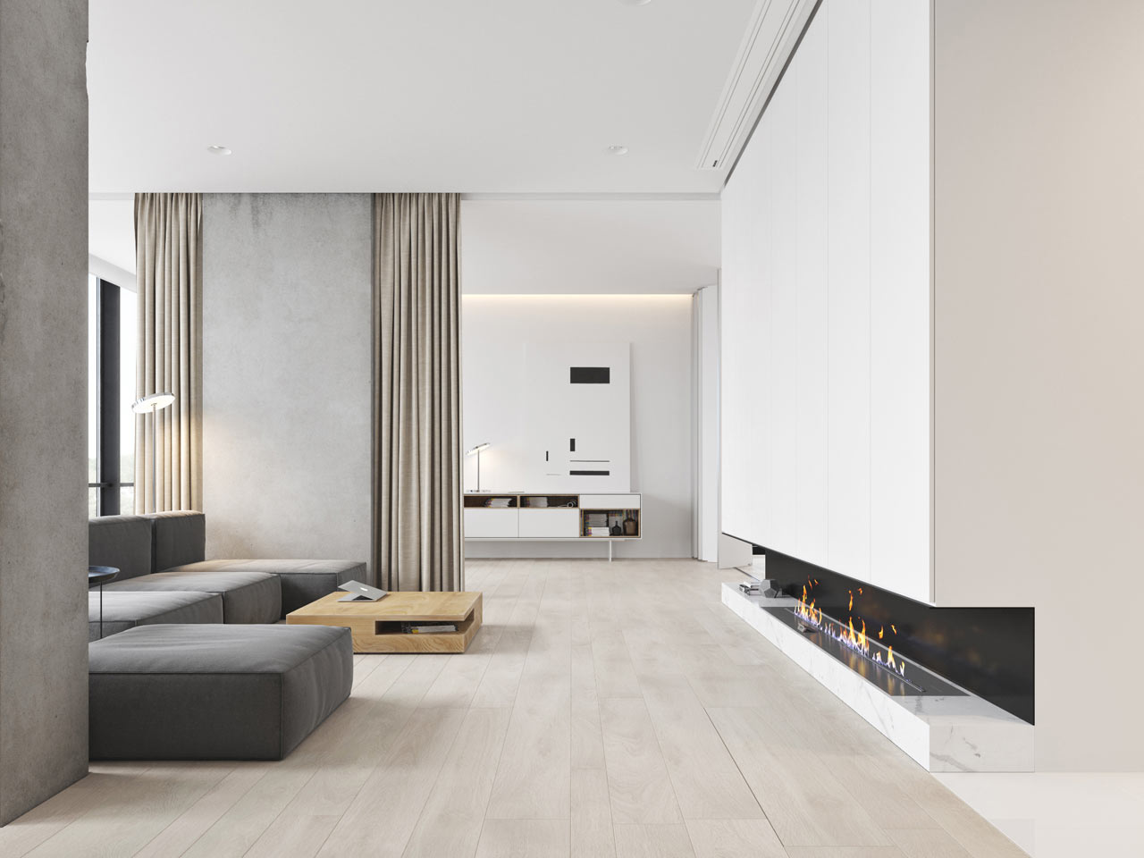 A minimalist bachelor apartment in montenegro design milk for Modern bachelor apartment
