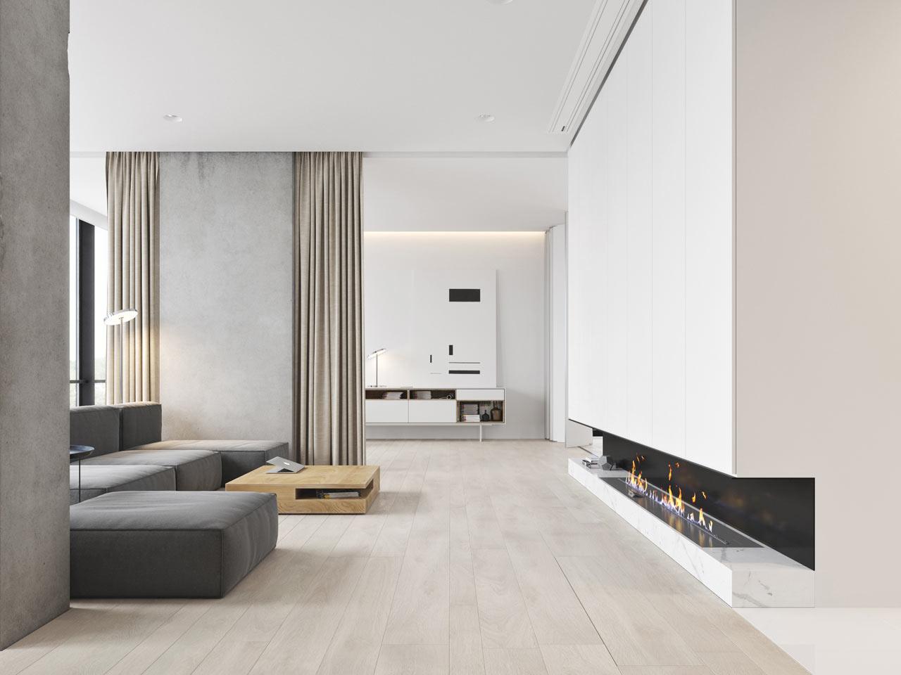 Interior Design Main  A Minimalist Bachelor Apartment in Montenegro ...