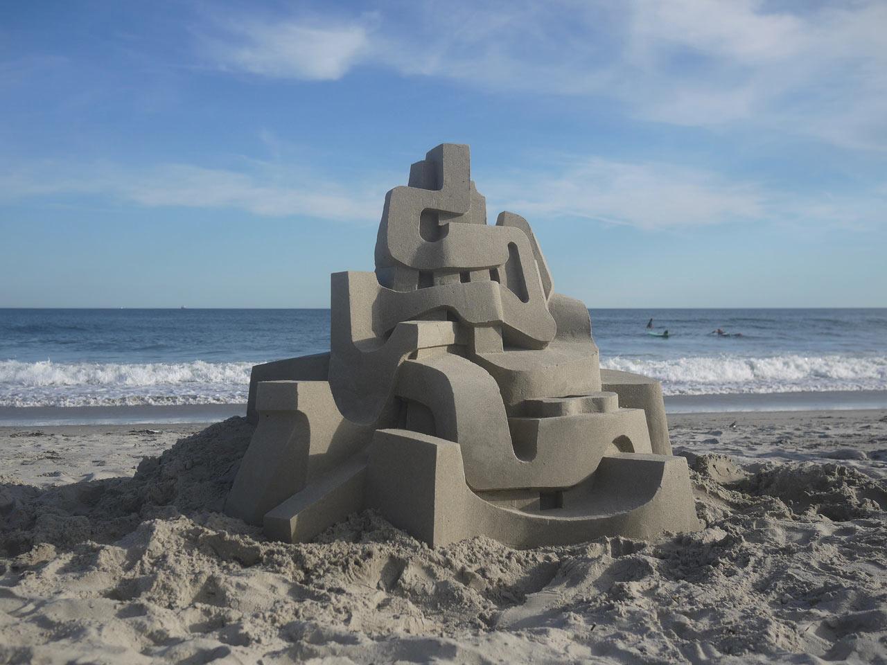 Jaw-Dropping Modernist Sandcastles by Calvin Seibert