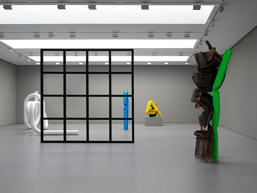 Installation view of Carol Bove's 'Polka Dots' at David Zwirner Gallery New York