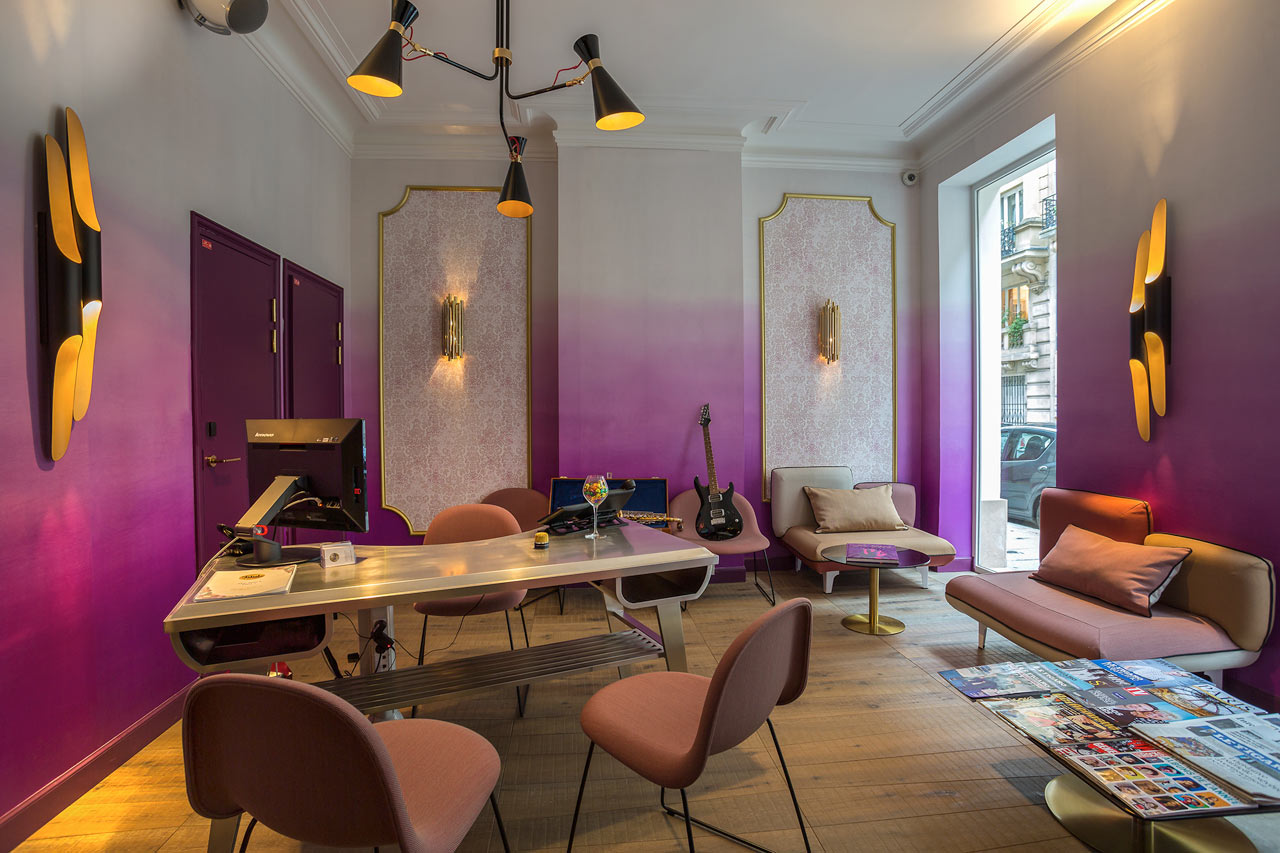 A music inspired boutique hotel in paris design milk for Hotel design original paris