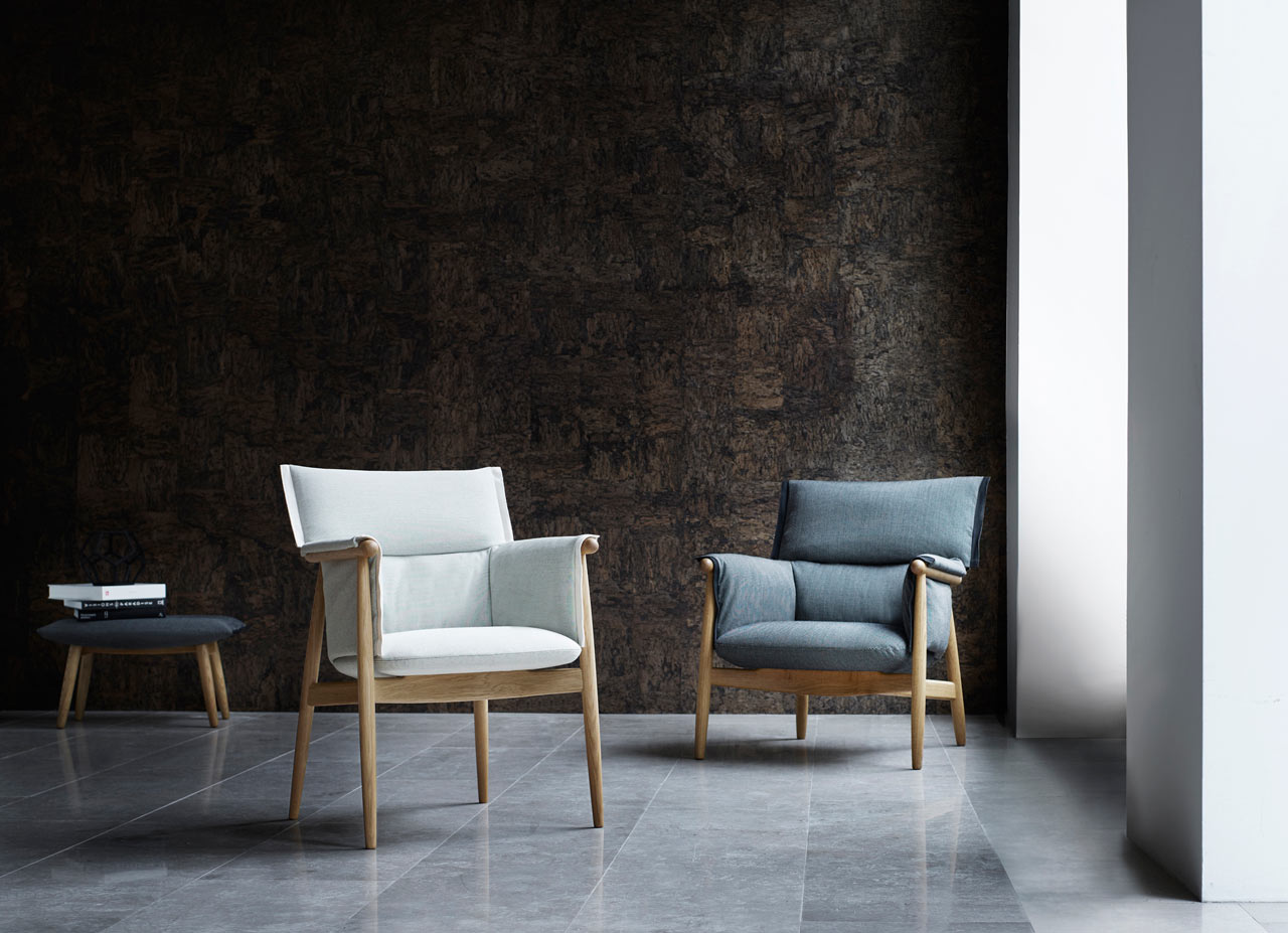 carl hansen son adds a lounge chair design milk. Black Bedroom Furniture Sets. Home Design Ideas