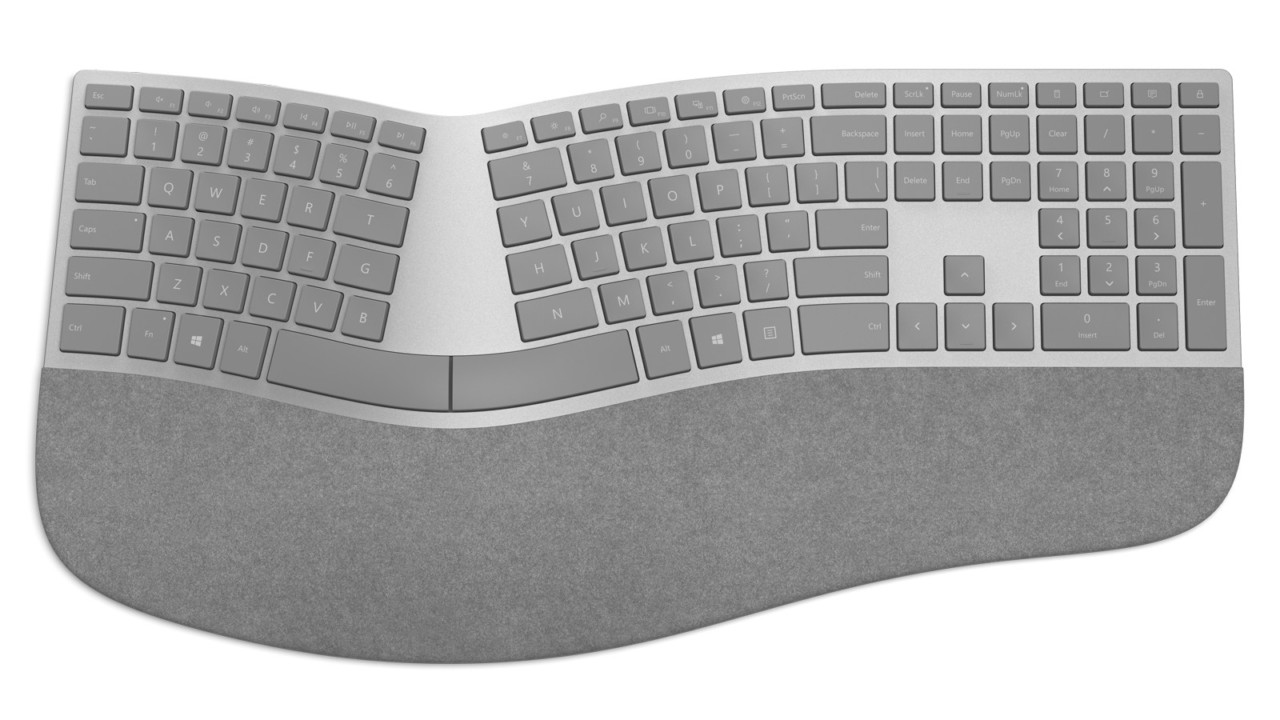 The Curvaceous Microsoft Surface Ergonomic Keyboard