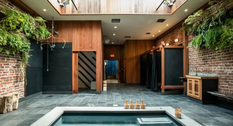 Former Auto Body Shop Transformed Into Zen Bathhouse