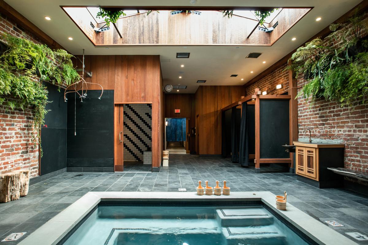 Former Auto Body Shop Transformed Into Zen Bathhouse