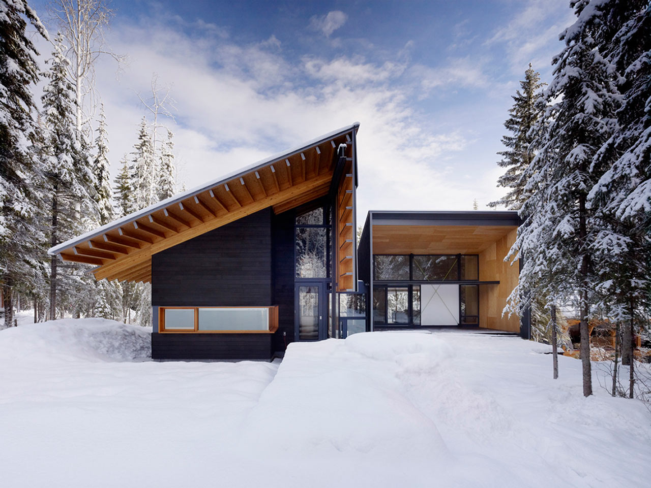 10 Modern Wintry Cabins Wed Be Happy to Hole Up In Design Milk