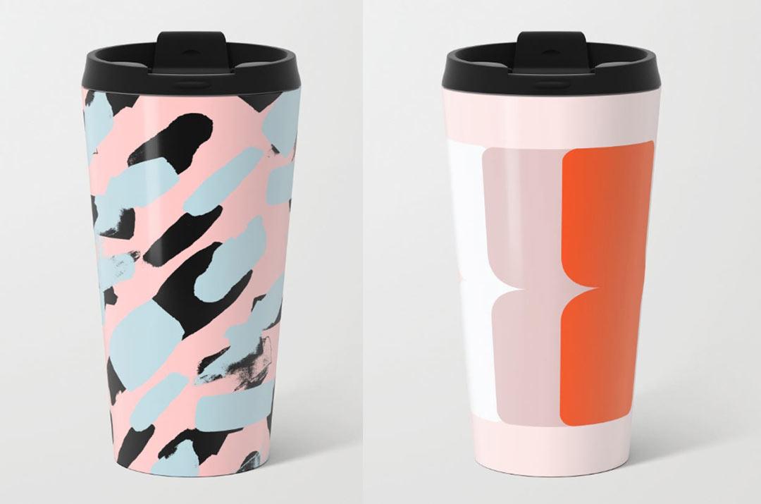 Fresh From The Dairy Metal Travel Mugs Design Milk