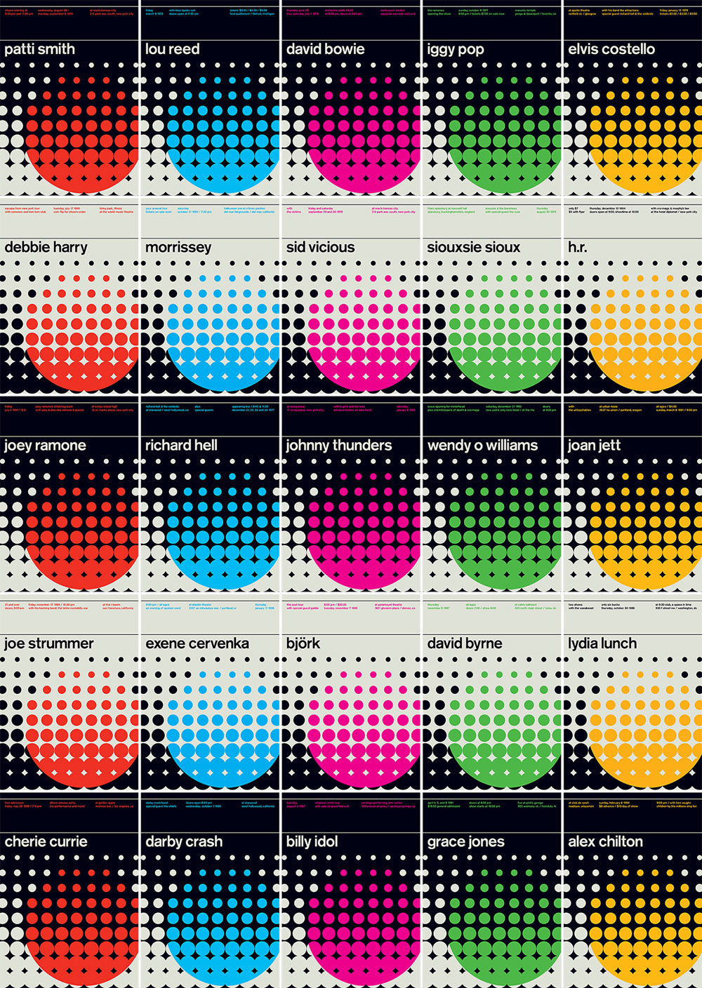 Swissted Launches Legends Series of 70s, 80s and 90s Rock + Punk Shows