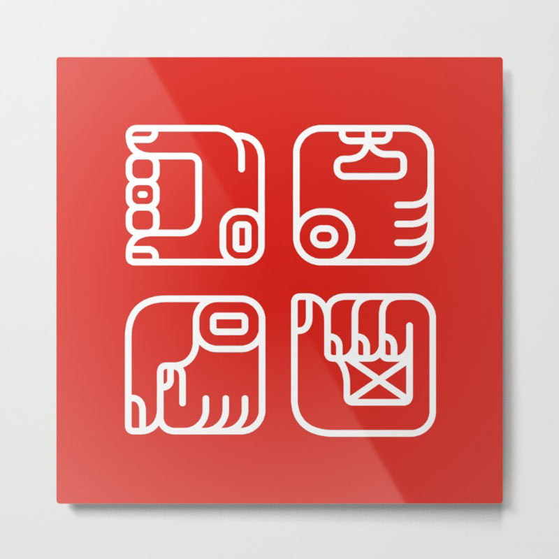 hands-mayan-glyphs-metal-print