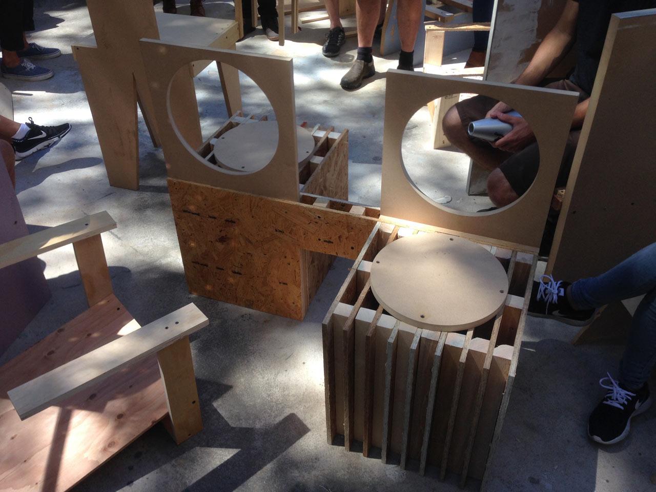 Jeremy Blake's conversation chair. Photo by Matthew Hebert