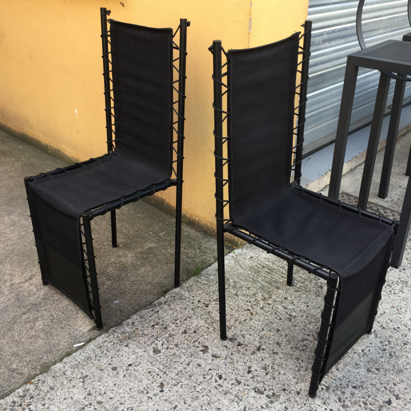 Two Philippe Starck sculptural chairs from 80's