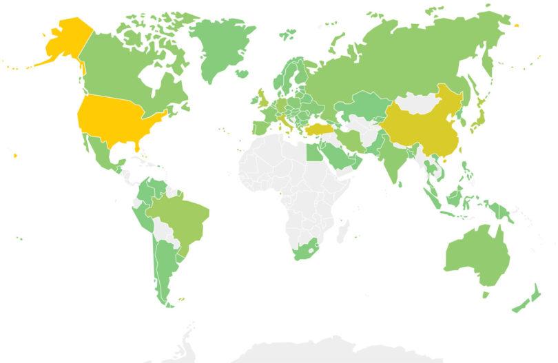 World Rankings Heatmap