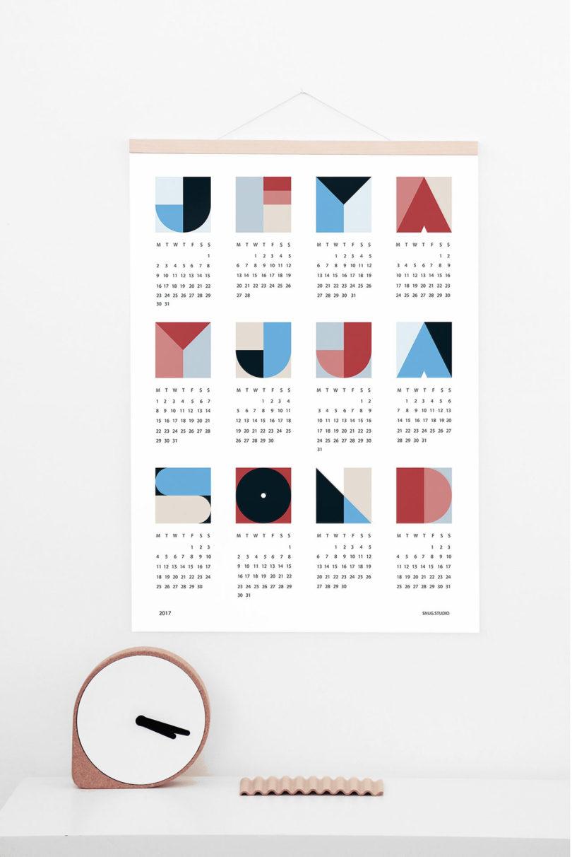 20 modern calendars for 2017 design milk 2017calendar 12 snug geo