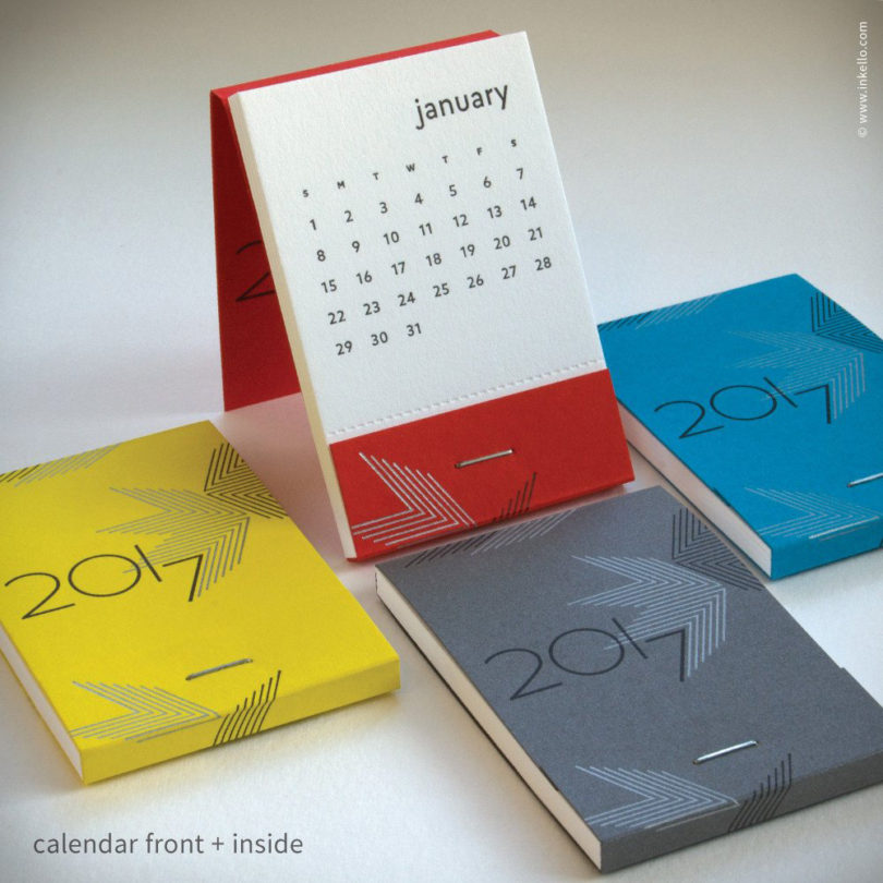 20 modern calendars for 2017 design milk