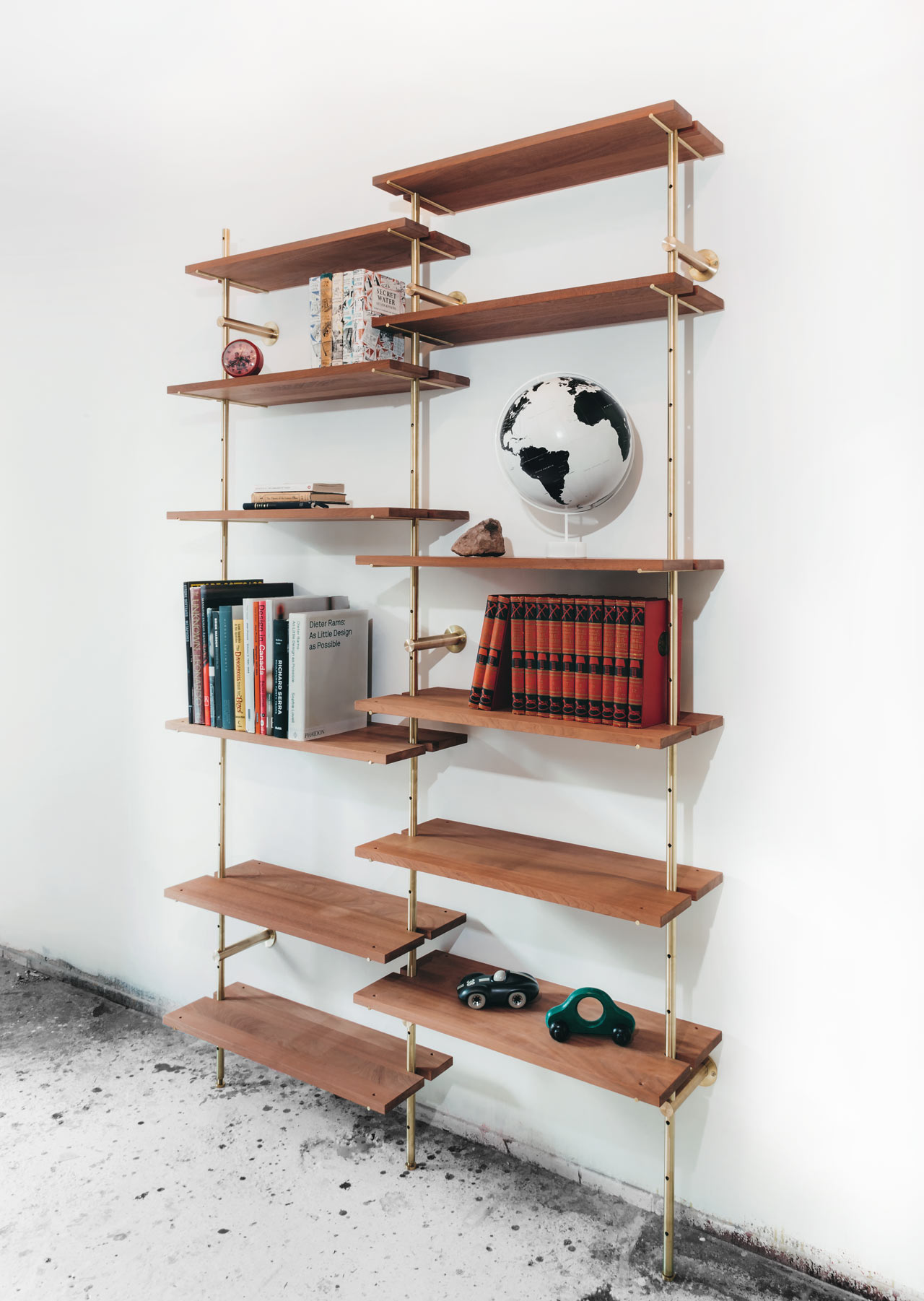 Brass Rail Shelving by Ryan Taylor for Object/Interface