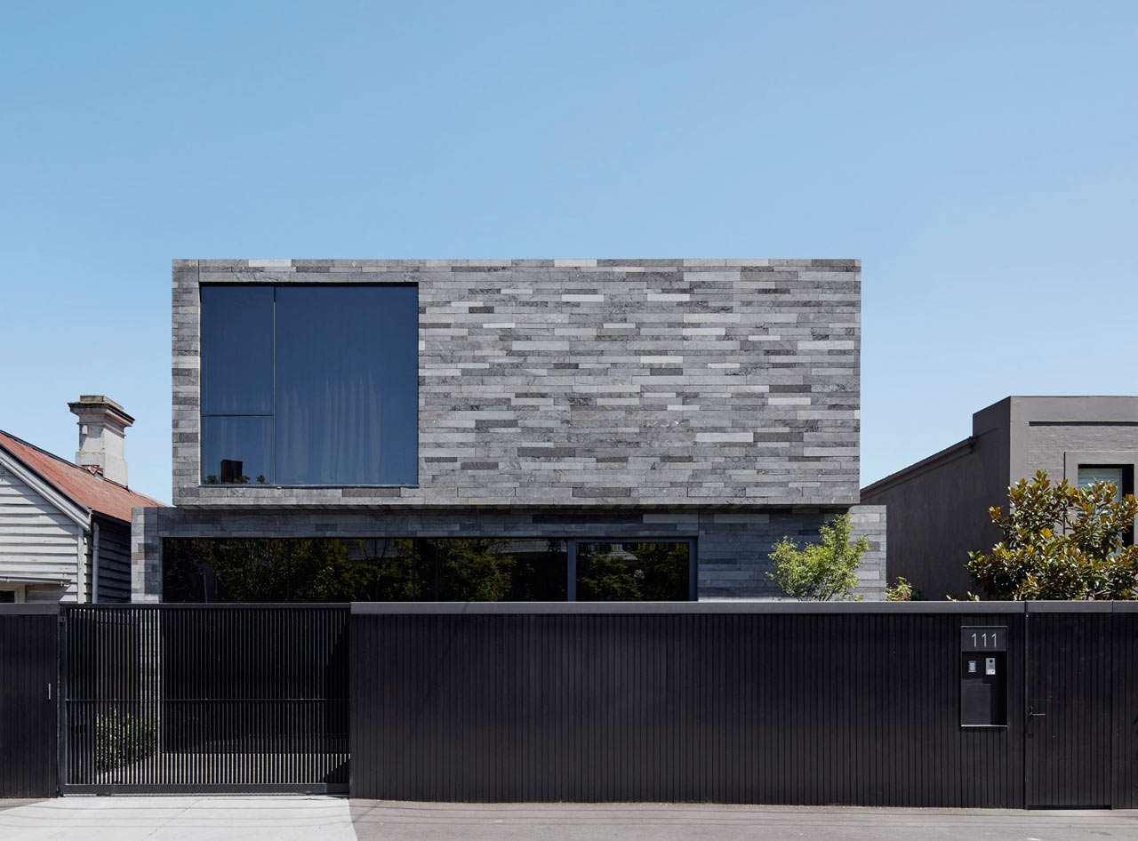 A Residence Clad in Rough Lava Stone
