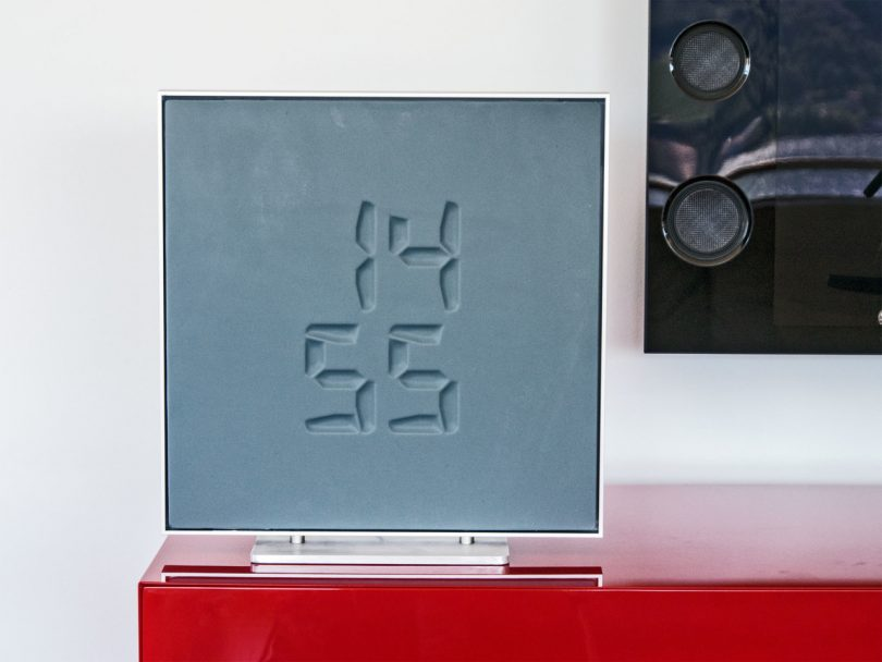 The Etch is a Morphing Digital Clock Sculpture