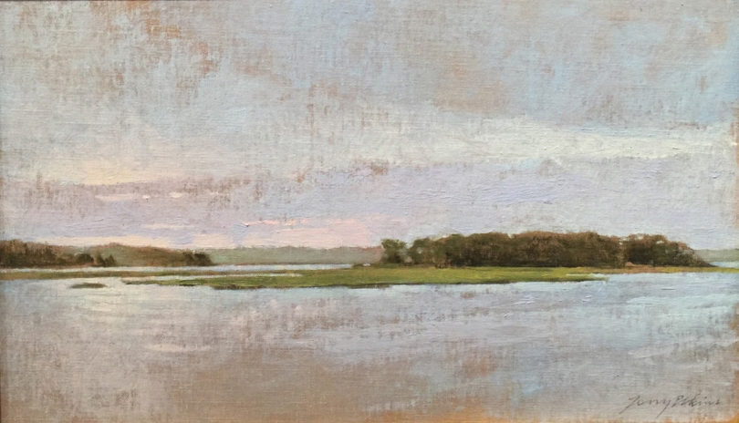 Painting of Louse Point by artist Terry Elkins