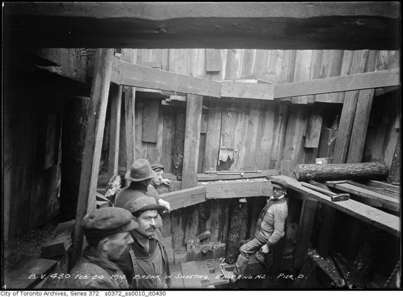 Photo from City of Toronto archives, illustrating the types of 20th century workers the novel fictionalizes accounts about