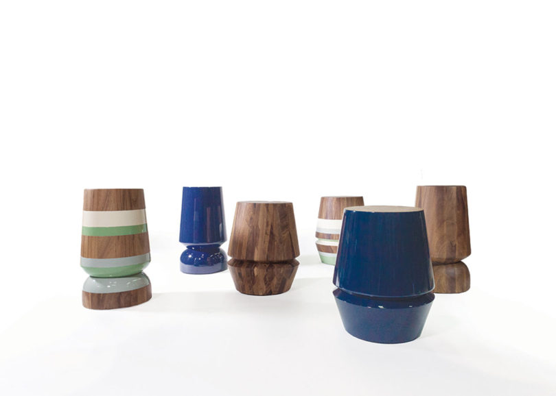 Capirucho Stools and Side Tables