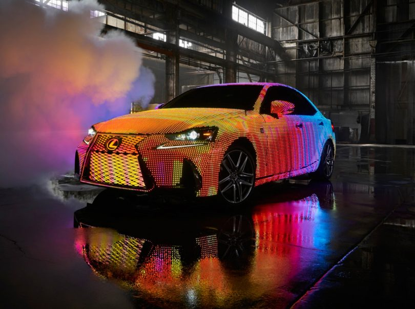 41,999 Programmable LEDs Turn the Lexus IS Into a Moving Screen