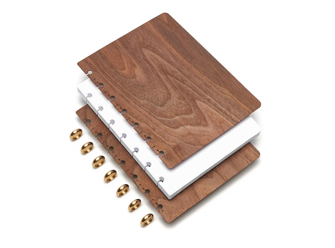 Refillable Wood Notebooks from Pacific & West