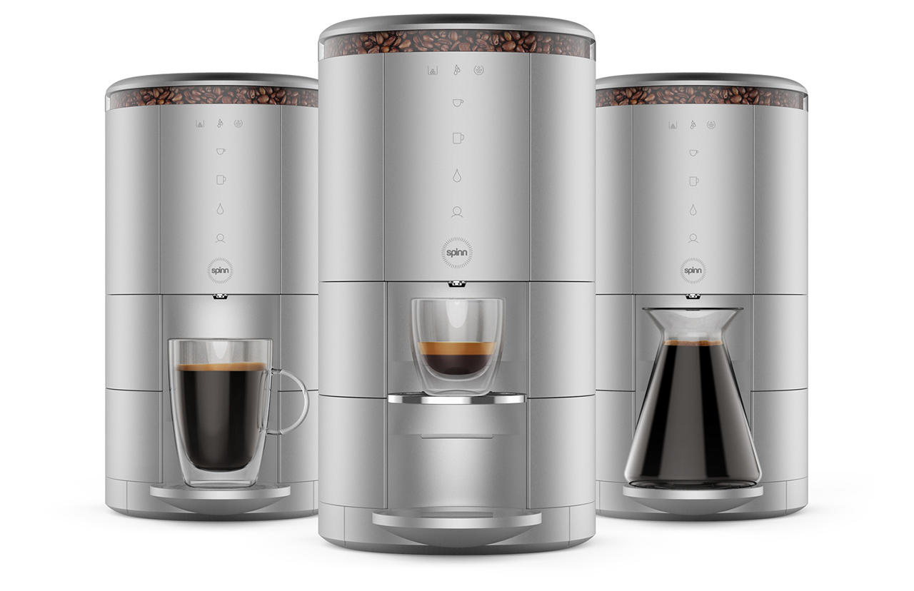 spinn is a centrifugal force wi fi enabled coffee maker design milk. Black Bedroom Furniture Sets. Home Design Ideas